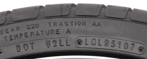 Tire Codes date of manufacture