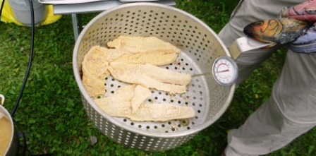 Dipping Basket Ready for the Hot Oil
