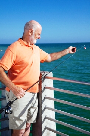 Senior Pier Fishing Florida