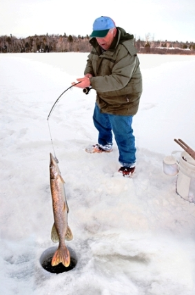Ice fishing rod for Ice fishing hooks