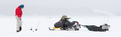 Snowmobile and Ice Fishing Sled